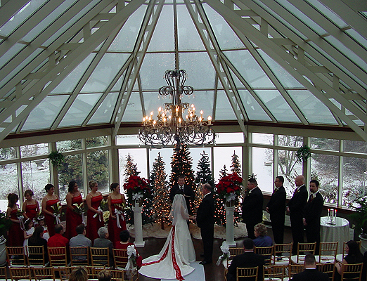 Springwood Conference Center Winter Wedding Ceremony And Reception